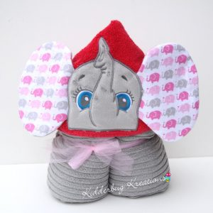 Girl Elephant Hooded Towel