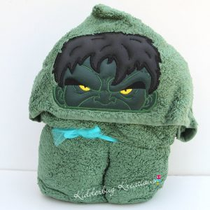 Green Monster Hooded Towel