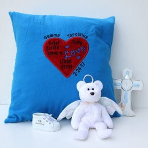 Infant Loss Memorial with a Grieving Heart