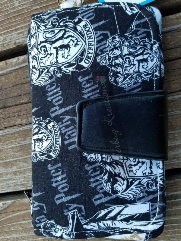 Wallet clutch purse with Harry Potter fabric
