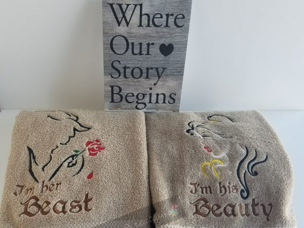His Beauty and Her Beast set of towels