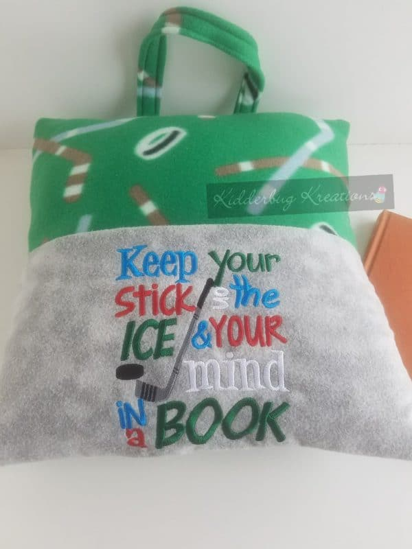 Hockey Reading Pillow