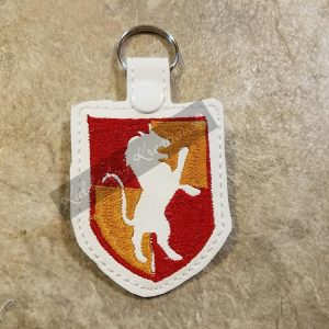 House crest keychain-lion, zipper pull, backpack tag, key fob