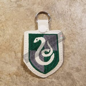 House crest keychain-snake, zipper pull, backpack tag, key fob