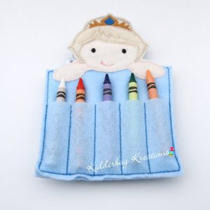 Ice Queen Crayon Holder