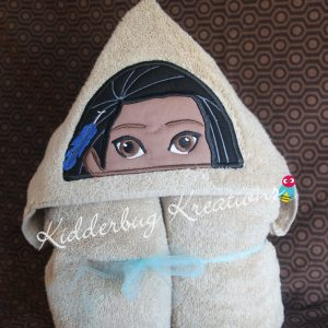 Indian Princess Hooded Towel
