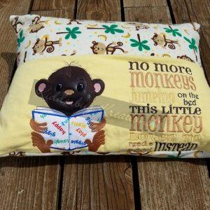 Jumping Monkeys Reading Pillow
