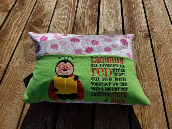 Ladybug Reading Pillow