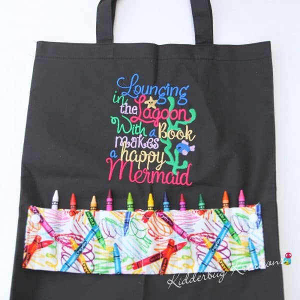 Lagoon Mermaid Coloring Bag