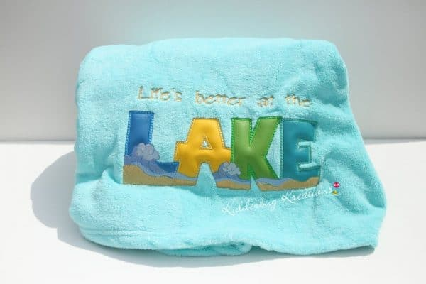 """Everything Is Better at the Lake"" Blanket"