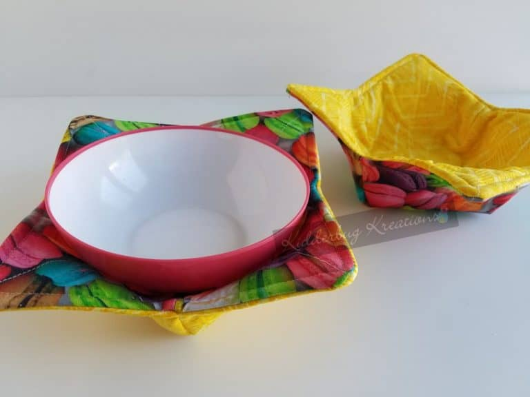Microwavable Bowl Holder With Macaroon Fabric