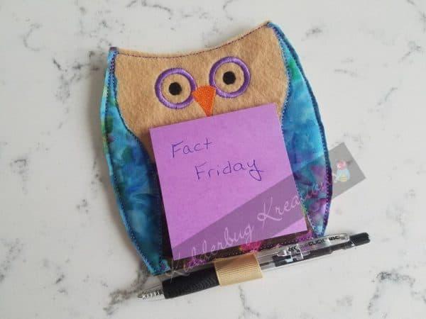Magnetic Owl Note Holder