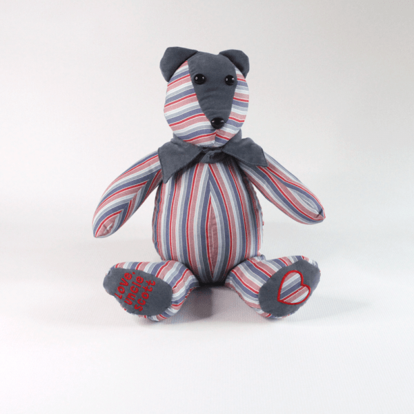 Memorial Bear Made from the Clothing of a Loved One