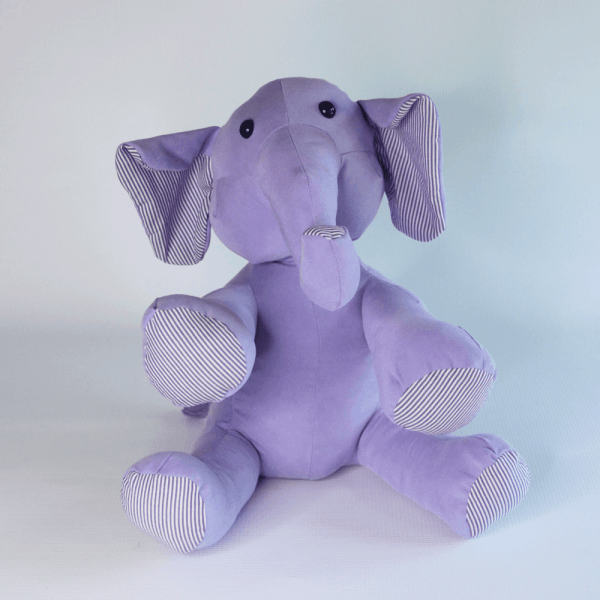 Memorial Elephant Made from the Clothing of a Loved One