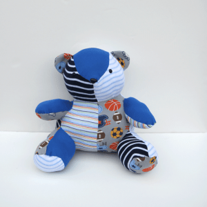 Memory Bear Made from the Clothing of a Loved One