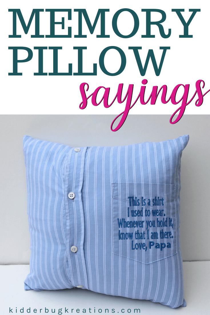 Memory Shirt Pillow