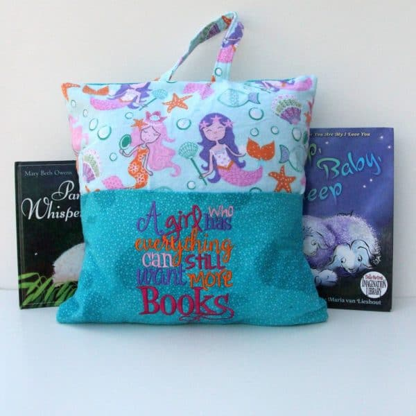 """""""Girl Who Has Everything"""" Reading Pillow"""