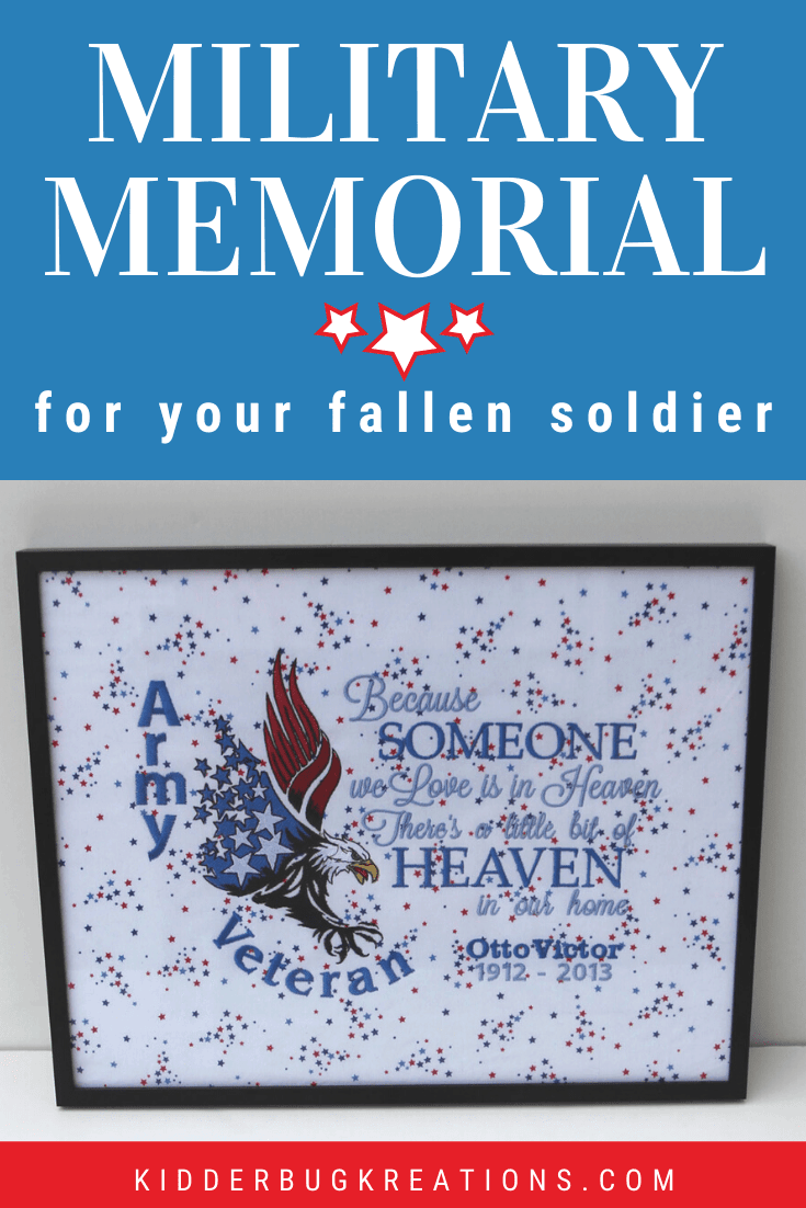 If you are looking for military memorial ideas, check out the ones available at Kidderbug Kreations. What a great way for remembering fallen soldier.  It would be a wonderful addition to a military memorial wall in your home.  Perfect git idea for Navy veteran, Army veteran, Marine veteran, or Air Force veteran. Shop kidderbugkreations.com for loss of a loved one gift ideas. #kidderbugkreations #handcrafted #giftidea #personalized #customgifts