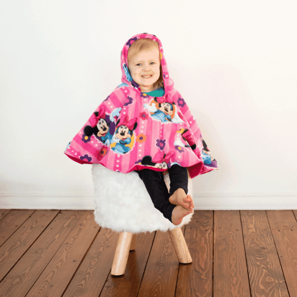 Car Seat Poncho with Minnie Mouse Fleece