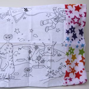 Outer Space Coloring Travel Pillowcase