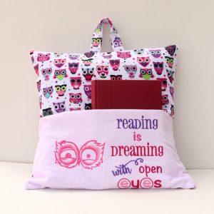 Owl Open Eyes Reading Pillow