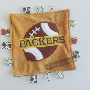 Packers Football Sensory Blanket