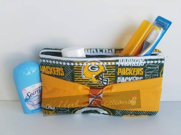 Toiletries bag in Packers fabric
