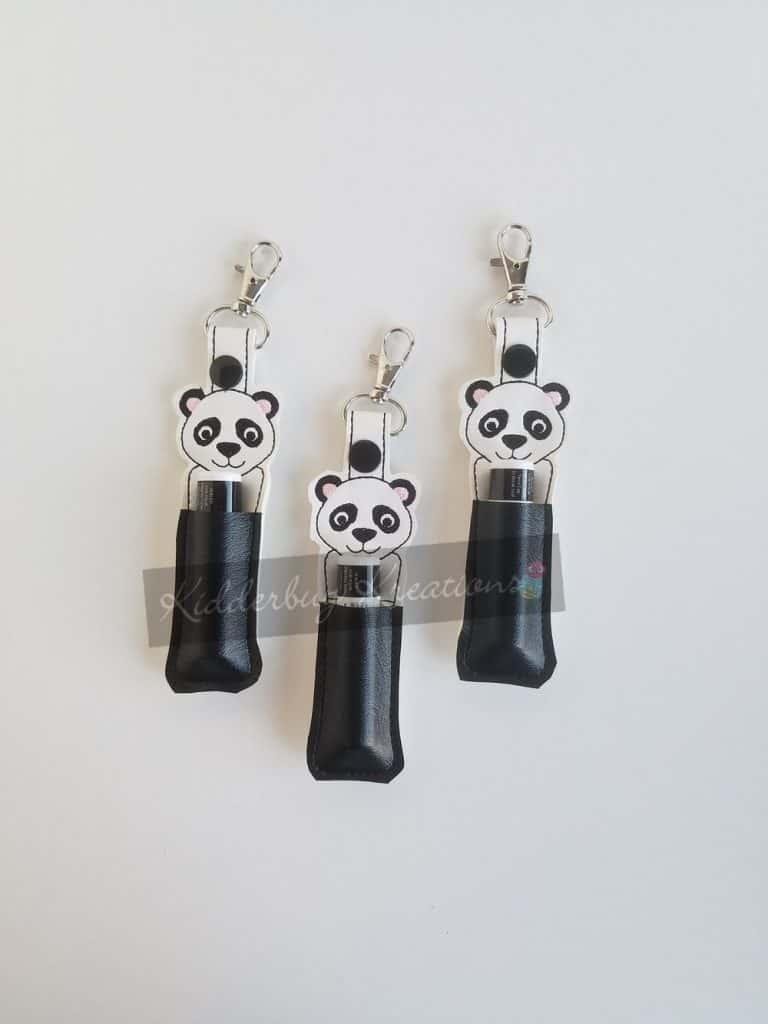 Panda lip balm holder