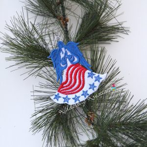 Patriotic Lace Ornament