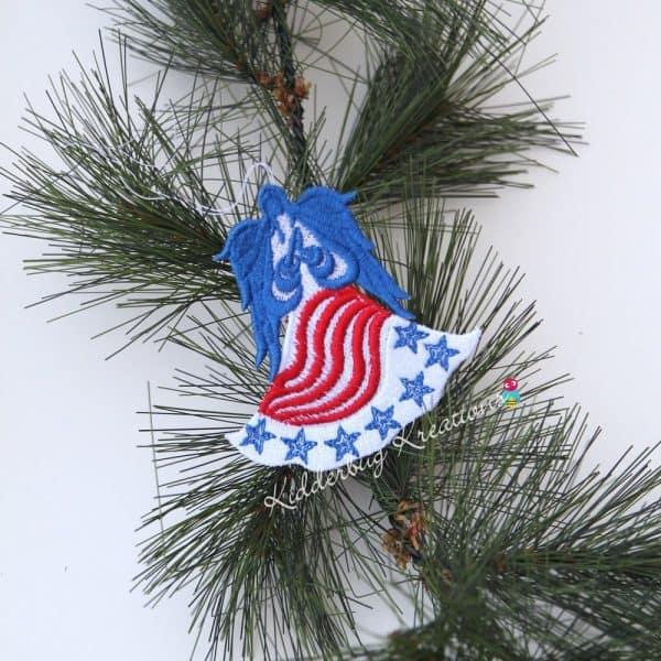 Patriotic Lace Ornament