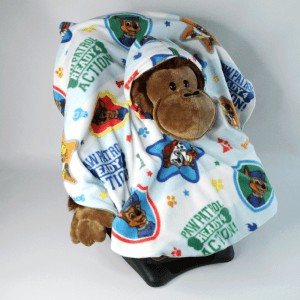 Car Seat Poncho with Paw Patrol Fleece