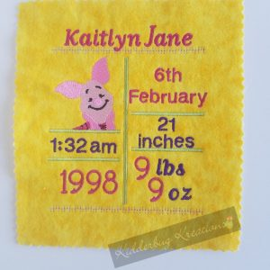 Little pig birth stats announcement