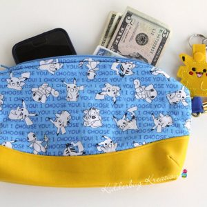 Pokemon fabric clutch purse
