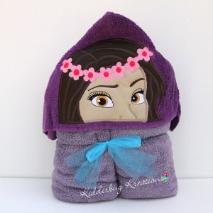 Polynesian Princess Hooded Towel