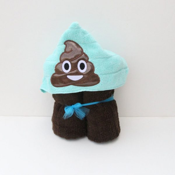 Poop Emoji Hooded Towel