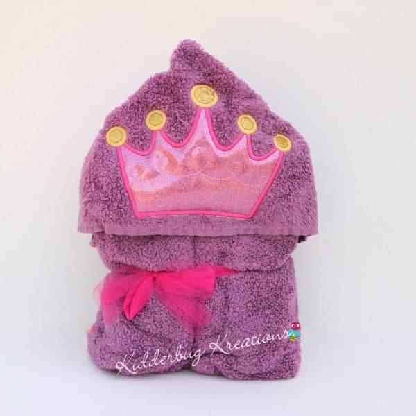 Princess Crown Hooded Towel