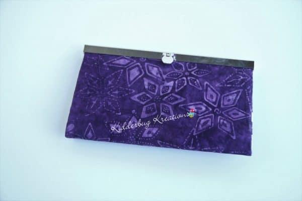 Purple batik wallet