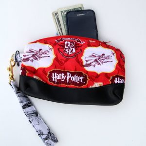Harry Potter Red Fabric Clutch Purse