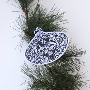 Reindeer Lace Ornament