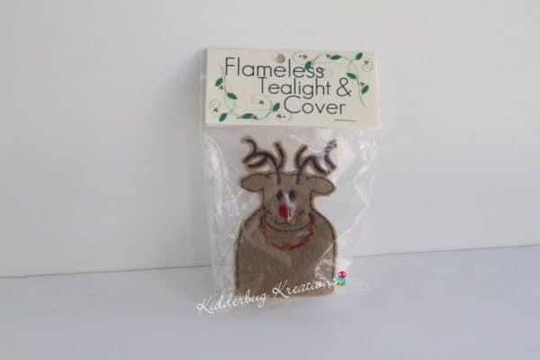 Reindeer tea light