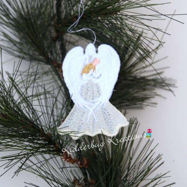 Angel Holding Baby Lace Ornament