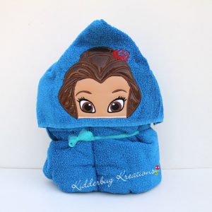 Rose princess Hooded Towel