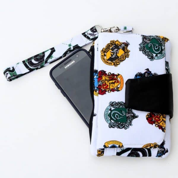 Wallet Clutch Purse with Slytherin Fabric
