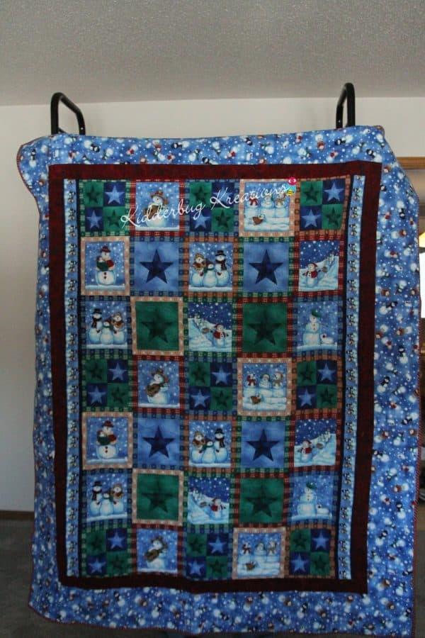 Snowmen Flannel Quilt