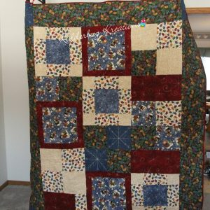 Snowmen and Mittens Flannel Quilt
