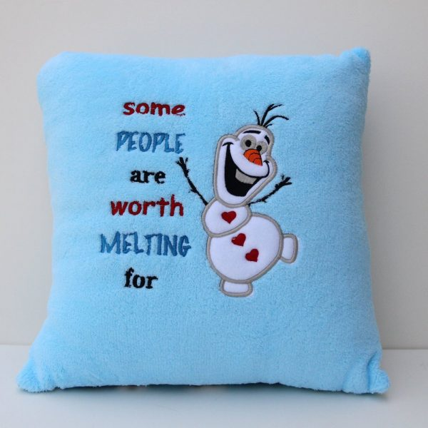 """Some People Are Worth Melting For"" Pillow"