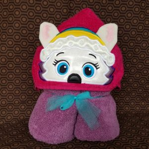 Snowplow Pup Hooded Towel