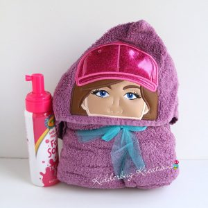 Softball Player Hooded Towel