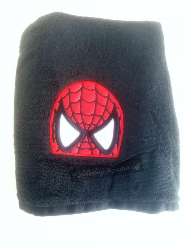 Spider mask embroidered towel