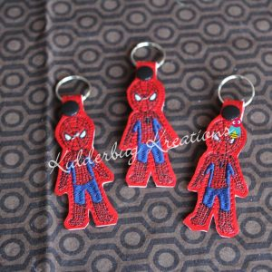 Spider mask keychain, zipper pull, backpack tag, key fob